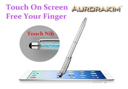 Wholesale Portable Pda - Wholesale- universal touch pen stylus pen for touch screen portable devices for tablet pc PDA mobile phone cell phones
