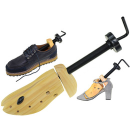 Wholesale Hotel Trees - Solid Adjustable Men and Women Shoe Stretcher 2-Way Wooden Shoes Shaper Three Size Can Be Choose Shoes Tree