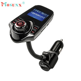 Wholesale Car Pc Radio - Wholesale- Hot-sale MOSUNX Car Kit Handsfree Wireless Bluetooth FM Transmitter MP3 Player USB LCD Modulator 1 pc