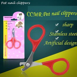 Wholesale Mini Puppy Shape - 2017 Hot luxurious stainless steel shape safe and durable authentic pet mini nail clipper cat puppy scissors grooming products free shopment