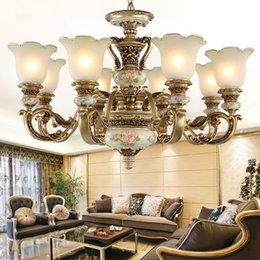 Wholesale European Style Garden - European Lighting Chandelier Pendant Lamp Bedroom Dining Room Living Room Lamp Resin Garden Simple Western Style Retro Atmospheric Lighting