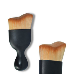 Wholesale Tooth Brush Cup - [pro Cosmetic Tools] 1pcs hot Wave brush cup Foundation Brush perfect with radian tooth brush with cover