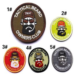 "Club biker patches on-line-VP-181 Tactical Beard proprietários club ""homem do pão"" patches moral exército Remendos jaqueta biker Medalhas de ferro patch de pvc em"