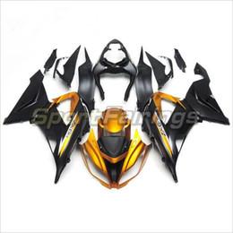 Wholesale Yellow Zx6r Fairing - 3 free gifts New Hot ABS motorcycle Fairing kits 100% Fit For Kawasaki Ninja ZX-6R 636 2013 2014 2015 ZX636 13 15 black Yellow AH1