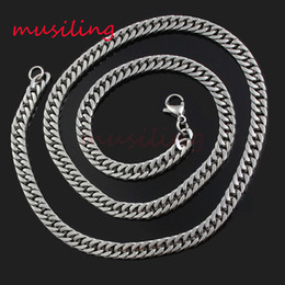 Wholesale Mens Tails - Necklace chain Stainless Steel Necklace Chain Lobster Clasp Fox's Tail Chain Fashion Charm Necklace Accessories Women Mens Jewelry 5Pcs