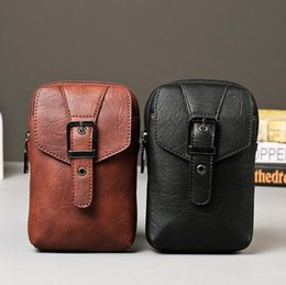 Wholesale High Quality Mens Bags - Multifunctional movement linked to mens personality are high quality leather men chest pocket bag leisure Men Leather Purse
