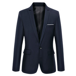 Wholesale Cheap Blazers Jackets - Wholesale- Mens Blazers New Arrivals 2017 Cheap Suit Jackets For Men Korean Suit Jacket Designer Blazer Masculino Slim Fit Terno Coat Q1