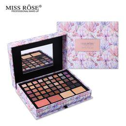 Wholesale Lipstick Making Set - Wholesale-Professional Flower Makeup Cosmetic Set Gift For Women Eyeshadow Lipstick Concealer Blush Mirror Kits Make Up Brand MISS ROSE
