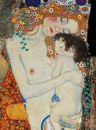 Wholesale Painting Thick - Framed GUSTAV KLIMT Mother & Child Free Shipping,Genuine Hand Painted Portraits Art oil Painting On Thick Canvas Multi Sizes Available KL007