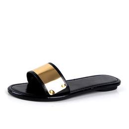 Wholesale Tpr Sole Sandals - Wholesale-Summer Slippers Women Slides Sandals 2016 Fashion Leather Sandals Shoes Women Flat Platform Sandals With Comfort Soft Sole BJ061