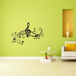 Wholesale Music Vinyl Wall Sticker - Music Character E Vinyl Decal Removable Funny Personality Sticker Graphics Wall Bedroom Sitting Room Decor Diy