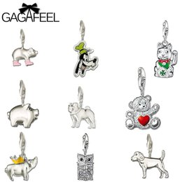 Wholesale Cute Charms For Sale - Wholesale- Clearance Sale Diy Charms With Lobster Clasp Fit Bracelets Cute Animal Handmade Charm Keychain For Jewelry Marking Friends Gifts