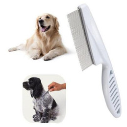 Wholesale Supplies For Hair - Dog Comb Stainless Steel Teeth Hair Brush Dog Grooming Brush for Dogs Cat Furminators Removed Flea Combs Pet Supplies CCA6667 350pcs