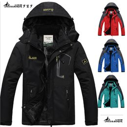 Wholesale Men S Detachable Slim Jacket - Wholesale- 2017 hot Brand Luo Baoluo winter jacket men Plus velvet warm wind parka 6XL plus size black hooded winter coat men