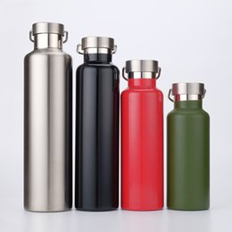Wholesale Insulated Sports Bottles - Tumbler Sports Bottle Vacuum Insulated Stainless Steel Water Bottle Double Wall Portable Leak Proof Travel Mugs Cups XL-G147