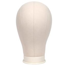"""Отверстие 21 онлайн-Холщовый манекен-головка для изготовления и укладки дисплеев париков Профессиональная головка с крепежным отверстием 21 """"-25"""" Окружность и подставка для зажима стола"""
