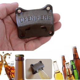 Wholesale Vintage Bottle Cap Soda - Vintage Wall Mounted Opener Wine Beer Soda Glass Cap Bottle Opener Kitchen Bar Gift Kitchen Tools OOA2240