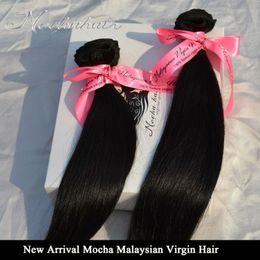 "Wholesale Wholesale Virgin Burmese Hair - Wholesale-Unprocessed Mocha Hair 3PCS Lot 8""-26"" Malaysia Straight Virgin Hair Extension Hair Weave wholesale Natural Color Tangle Free"