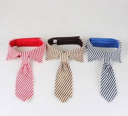 Wholesale New G3 - Stripes Large Dog Neckties For Big Puppy Pet Dogs Adjustable Ties Grooming Bow Ties Pet Accessories G3