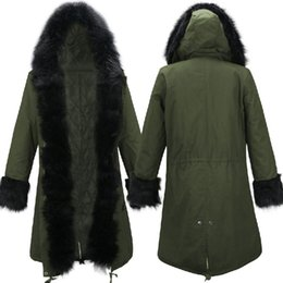 Forro de piel sintética abrigo de invierno online-Invierno de imitación caliente forro de piel abrigo de invierno medio-largo delgado algodón de abrigo Chaquetas Parkas Napka Jaqueta Femenino Jaquetas outwear la capa