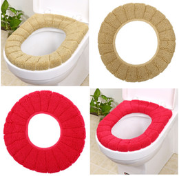 Wholesale Lycra Cover Seat - Warmer Toilet Seat Cover for Bathroom Products Pedestal Pan Cushion Pads Lycra Use In O-shaped Flush Comfortable Toilet Random