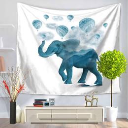 Deutschland 16 FARBEN Tier Elefanten Muster Polyester Tapisserie Fresko Yoga Strand Decke Handtuch Raum Dekoration Tropfenverschiffen cheap elephant decorations home Versorgung