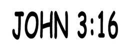 Wholesale Cross Verse - Wholesale John 3:16 Graceful Sticker Bible Verse Gospel Jesus God Cross Church Sing Christ Lettering Art For Car Window Door Vinyl Decal