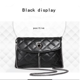 Wholesale Diamond Hand Bags - 2017 high quality new tide contracted ling, chain little bag air fragrance metal tassel bag lady hand the bill of lading shoulder worn