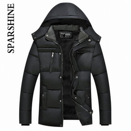 Wholesale Mens Winter Down Coats Sale - Wholesale- Warm Winter Thicken Mens Hooded Coat Jacket Men's Outerwear Homme Soft Comfortable Men Jackets And Coats 2016 Sale