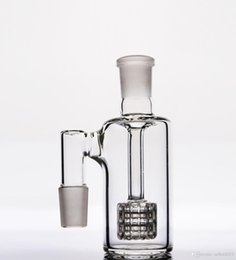 Wholesale Hand Blown Glass Percolator - 18.8 mm ash catcher Percolator oil rigs perc 4.8 inches for glass bongs pipes hookahs recycler two functions hand blown glass