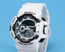 Wholesale Luxury G Shock - AAA Good Quality luxury brand watch men G All pointer work GA400 Men sports watches LED light watch famous digital shock watches with Box