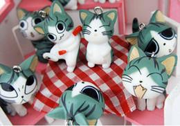 katze handy-charme Rabatt Katze Mobile Kette Lucky Cat Anhänger Handy hängende Accessoires Keychain Strap JJTO