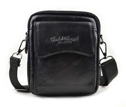 Wholesale Men Shoulder Bag Fanny Pack - Wholesale- New Men's Genuine Leather Cross Body Messenger Shoulder Pouch Casual Belt Hip Waist Pack Fanny Bag Purse