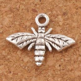 Encantos do mel on-line-Honey Bee Charme Beads Pingentes 300 pçs / lote 17x13mm Liga De Prata Tibetano de Metal Charme Jóias DIY Hot L962