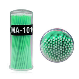 Canada 100 Pcs / Pack Hot Lint Jetable Maquillage Brosses Lash Individuel Outils Outils Swab Micro brosses Outils D'extension De Cils supplier disposable hot pack Offre