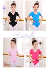 Wholesale Ballet Dance Exercises - Girls Ballet Dancing Wear Summer Kids Lace Dance Daily Exercise Costume Children's Profession Ballet Leotard, free shipping