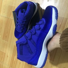 Wholesale Royal High Basketball - 2017 Mens and Women High Retro 11 Royal Blue Basketball Shoes Out Door Sports Sneakers for Men Size US5.5-13 Euro 47