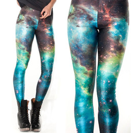 Wholesale Jeggings Pants Galaxy - Wholesale- Galaxy Adult Women Legging Woman Leggings Jeggings Legings Fitness Legging Pant Printed Leggings