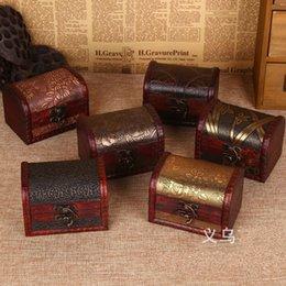 Wholesale Desktop Cases - Vintage Jewelry Boxes Handmade Wooden Storage Case Carving Flower Sundries Container Retro Desktop Decor Box Practical Organizer 3 4cz R