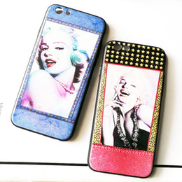 Wholesale Marilyn Monroe Phone Cases - For Iphone 6P Mobile Phone Cases Marilyn Monroe Embossed Plating Creative New Mobile Phone Protection Shell For Iphone 7 6 6s Plus