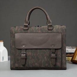 Wholesale File Key - Wholesale- 2017 Individual Hasp PU Camouflage Handbag for IPAD Package A4 File Business Negotiation Package Men Messenger Special Work Bag