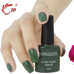Wholesale Blinks Art - Wholesale- Dannail Gel #59 Dannail Dark Green Color 10ml Long Lasting Soak Off UV Gel Nail Polish Nail Art UV Manicure Cosmetic Blink Gel