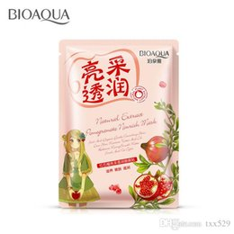 Wholesale Pomegranate Mask - red pomegranate Radiance for face Masks replenishment shrink pores skin care cosmetics facial mask face Moisturizing sheet mask