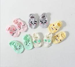 Wholesale Panda Mouse - Korean Style Pure Cotton Baby Boys Girls Ankle Socks Breathable Socks Animal Cats Tiger Panda Rabbit Mouse Printed Socks Stocking Q0881