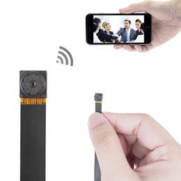 Wholesale Dvr Pcb - 16GB memory bulit-in Newest 1080P PCB Hidden Camera WiFi IP P2P Camera DIY pinhole DVR CCTV Detector PCB Wifi Spy Camera PQ198