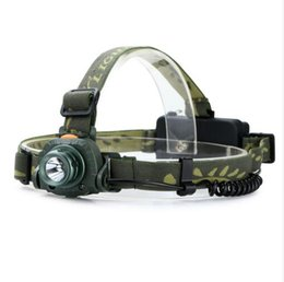 Wholesale Headlight Sensor - NEW CREE Q5 LED 2000 Lumens Motion Sensing Cree Led Headlamp Headlight Sensor Head Light Flashlight For 1x18650   3xAAA