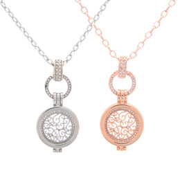 Wholesale Brass Discs - New Arrival Deluxe My Coin Disc 25MM Coin Holder Frame Pendant Necklace with 80CM Chain as Jewelry Gift for Girl Friend 5Sets lot