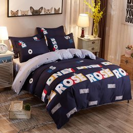 Wholesale Cotton Striped Comforter - Ranbow print bed linen set striped plaid bedding sets bohemian bedspread floral bedclothes modern style duvet cover