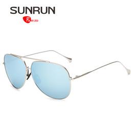 Wholesale Over Sized Sunglasses - Wholesale- SUNRUN Sunglasses Polarized Men Over Sized Sun Glasses for Women Vintage Style Mirror Eyewear gafas de sol 1006