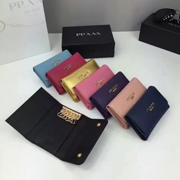 Wholesale Multiple Wallet - Multiple colors optional brand mini wallet original imported Really leather cross pattern fashion wallet key bag best quality